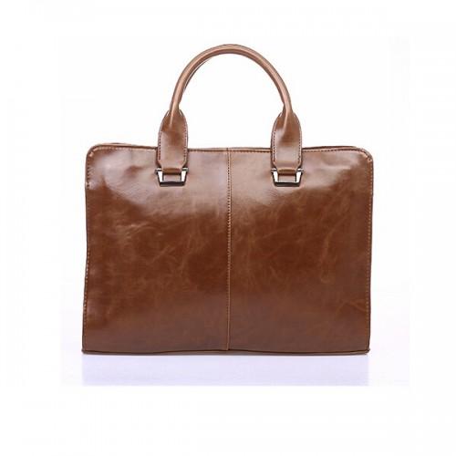 Leather Mens Briefcas Laptop Business Bag